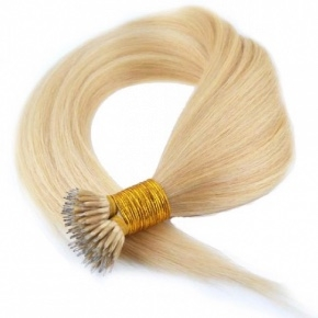 """Remy Hair Nano tip Color #613, 22"""", Single Drawn, Straight, In-stock"""