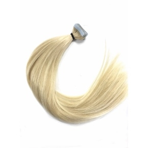 """Remy Hair Tape-In Color #613, 18"""", Single Drawn, Straight, In-stock"""
