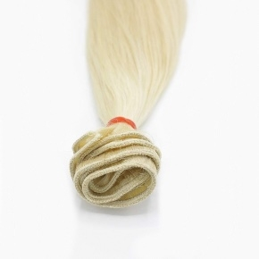 """Remy Hair Weft Color #60, 18"""", Single Drawn, Straight, In-stock"""