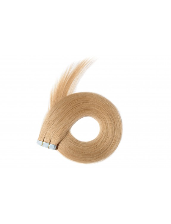 """Remy Hair Tape-In Color #16, 18"""", Single Drawn, Straight, In-stock"""
